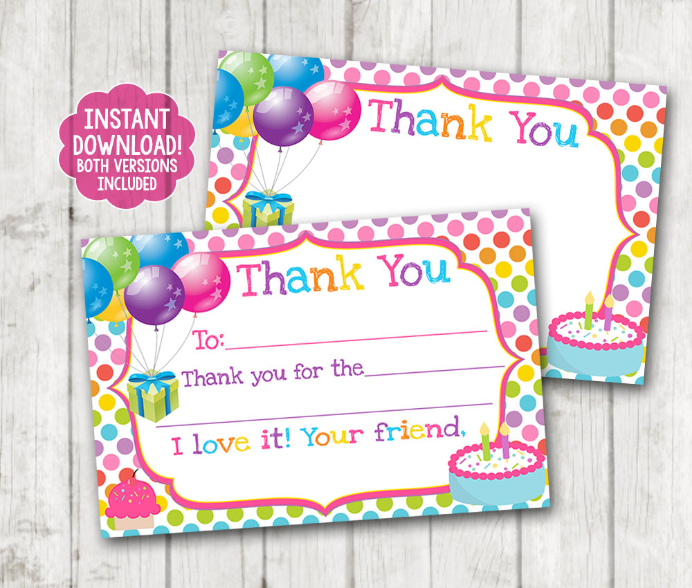 Instant Printable Birthday