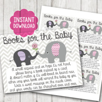 image about Bring a Book Baby Shower Insert Free Printable titled Printable \