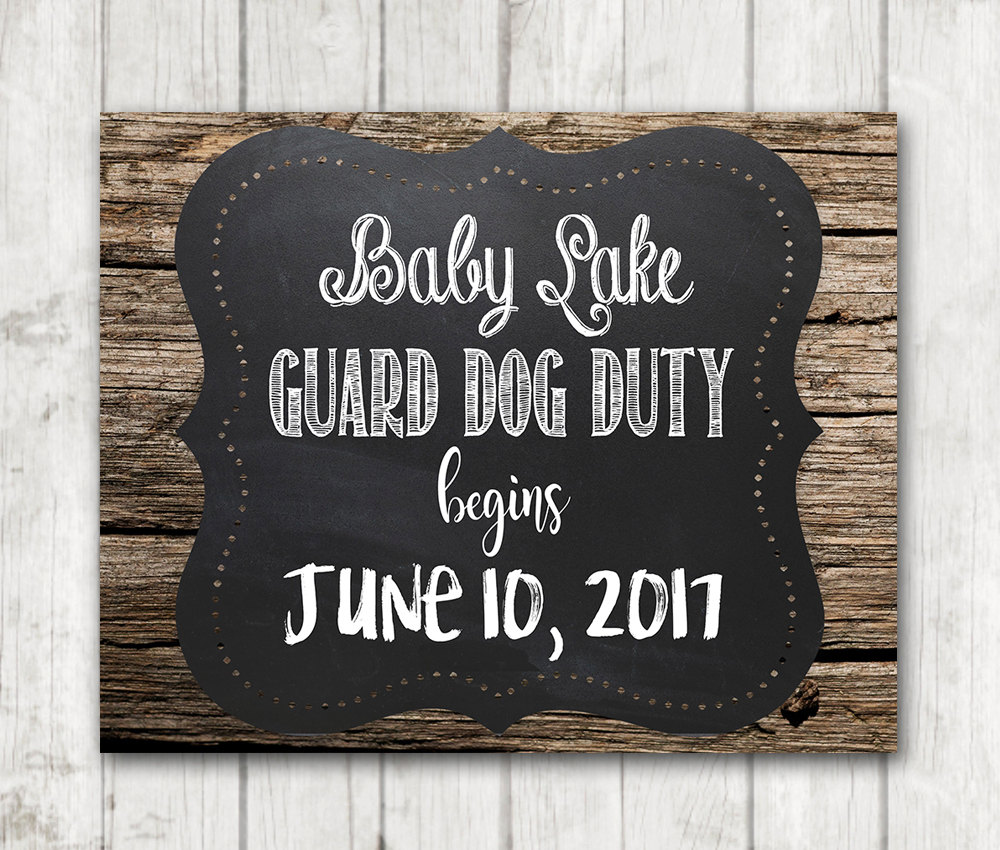 image relating to Printable Baby Announcement identify Printable Picket Chalkboard Youngster Announcement Signal - Protect Pet dog Accountability