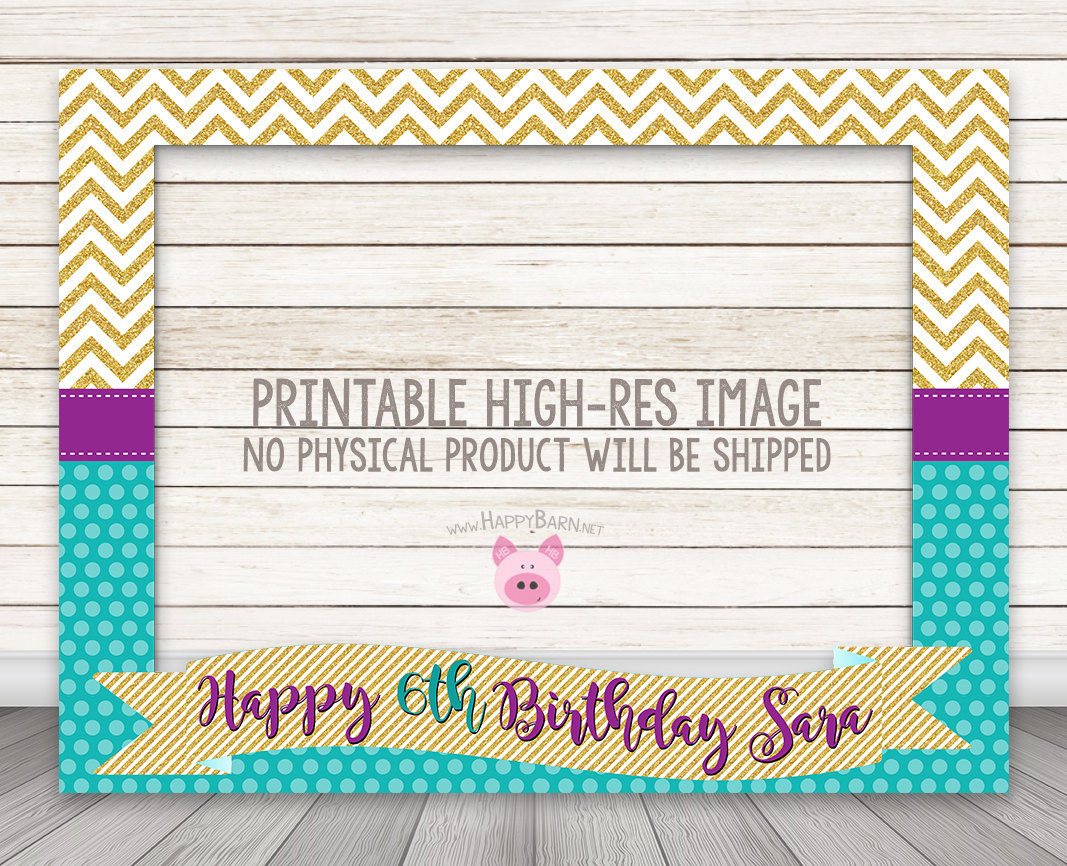 photograph relating to Baby Shower Photo Booth Props Printable called PRINTABLE Glitter Birthday Image Booth Body