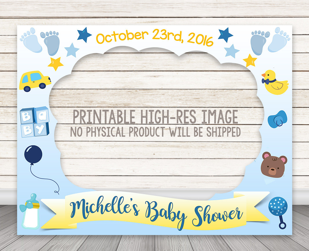 PRINTABLE Boy Baby Shower Photo Booth Frame – Happy Barn