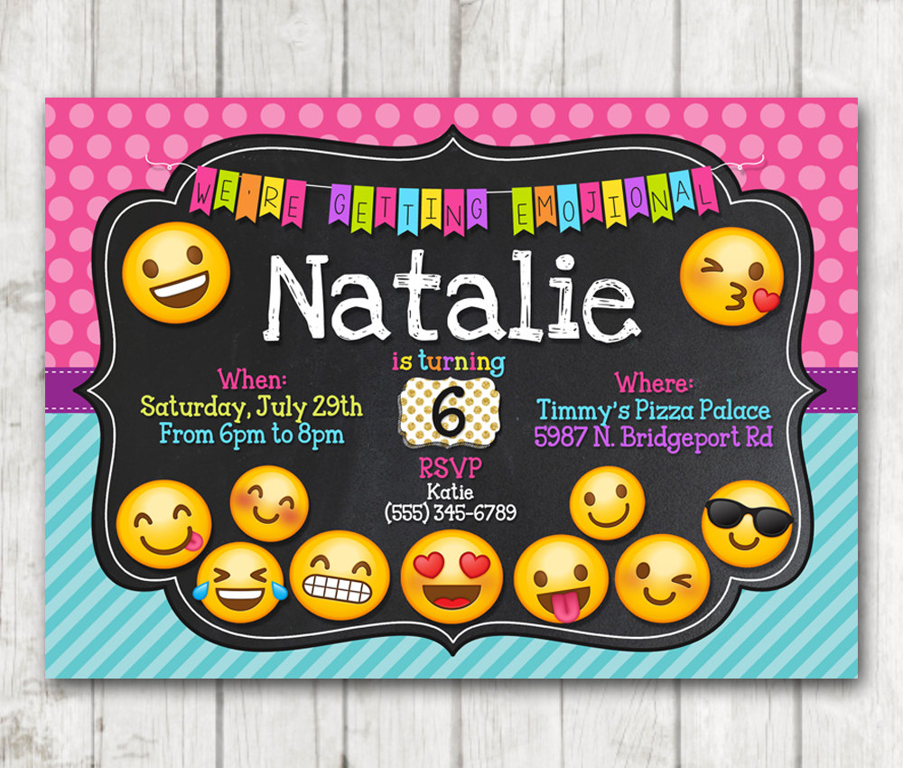 It's just an image of Comprehensive Emoji Invitations Printable