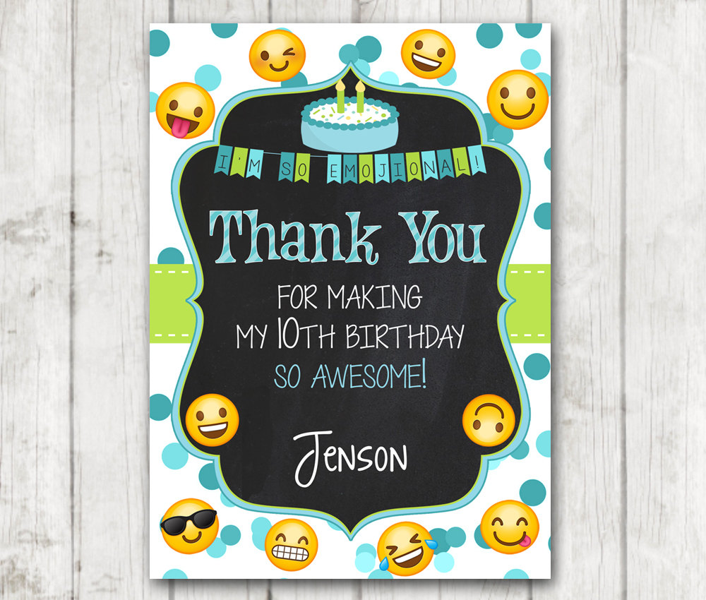 Printable Emoji Thank You Cards