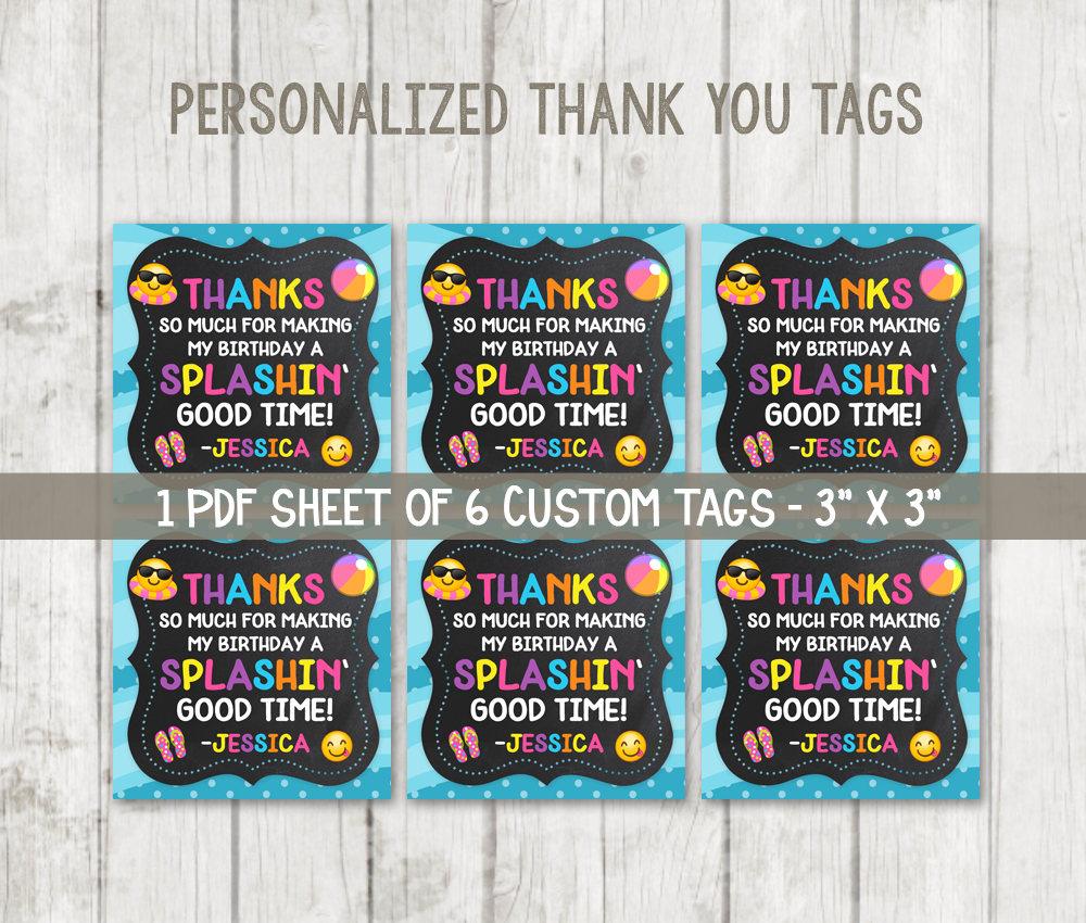 photo regarding Thank You Tag Printable known as Printable Emoji Thank Oneself Tags - Emoji Pool Bash Tags