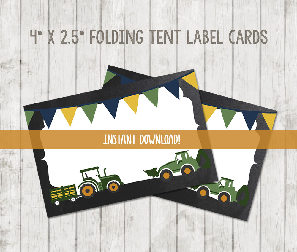 Printable Tractor Food Tent Labels – Happy Barn