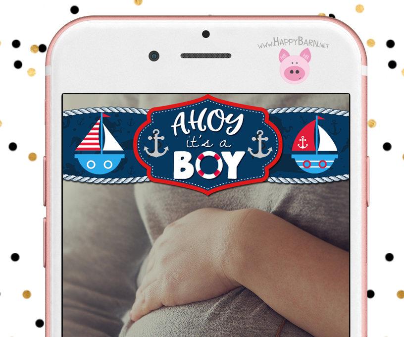 Nautical Party Geofilter Nautical Snapchat Geofilter Nautical Baby Shower Filter Snapchat Geofilter Anchors Aweigh Snapchat