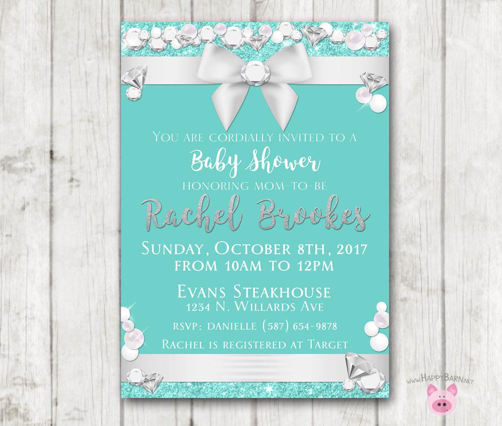 Printable Baby Co Invitation Tiffany Co Baby Shower Invitation