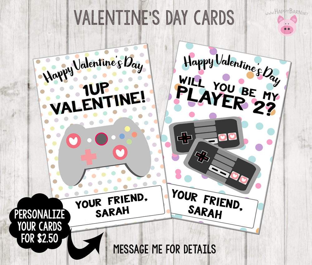 picture relating to Printable Video titled Printable Video clip Match Valentines Playing cards, Gamer Valentines Playing cards, Higher education Valentines, Female Gamer